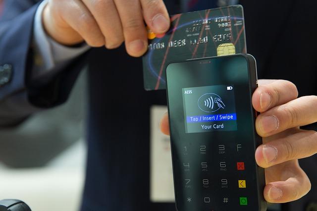 platba kartou v bezdrátovém terminálu