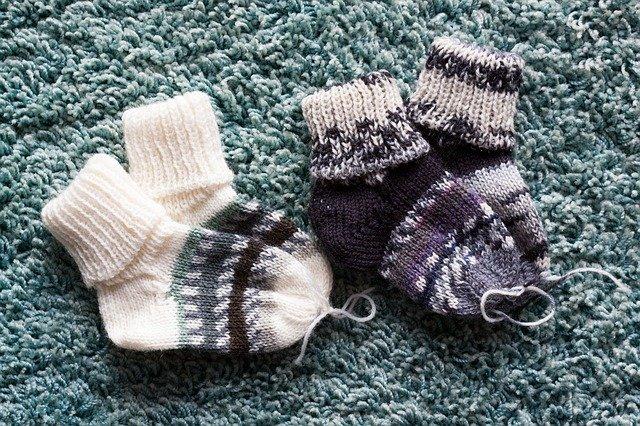 pletené ponožtičky