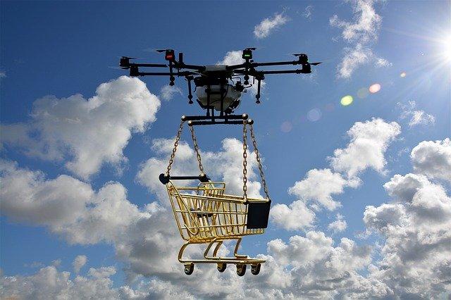 dron s vozíkem