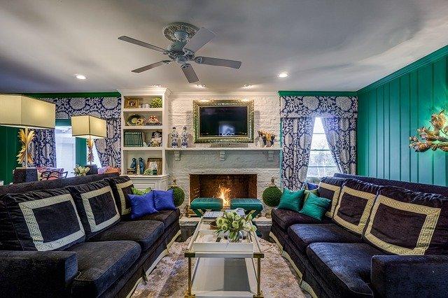 obývací pokoj, sedací souprava na levé i pravé straně